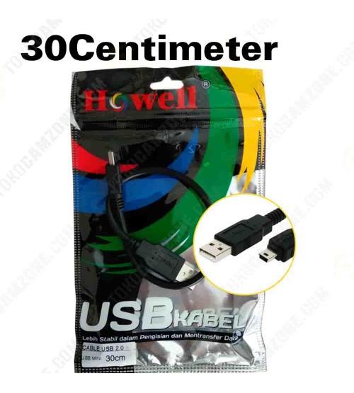 Howell USB 2.0 to Mini USB 30cm