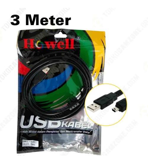 Howell USB 2.0 to Mini USB 3M