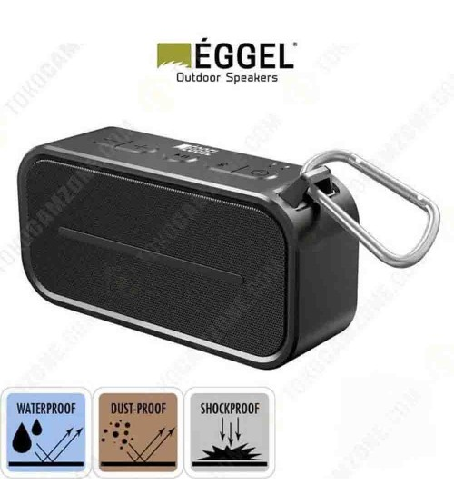 Eggel Active + Waterproof Portable Bluetooth Speaker