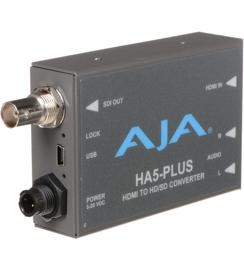AJA HA5-Plus HDMI to 3G-SDI Mini-Converter