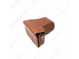 Leather Case For Canon EOS M10 Brown