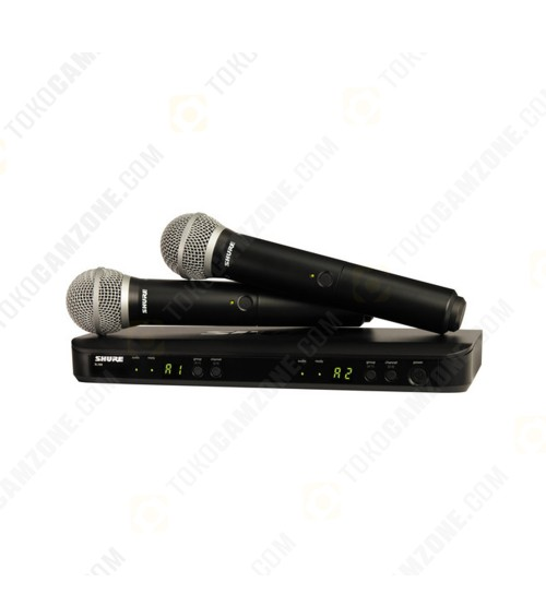 Shure BLX288/PG58 Dual-Channel Wireless Handheld Microphone System with PG58 Capsules