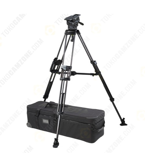 Miller ArrowX 5 Sprinter II 2-Stage Carbon Fiber Tripod System with Mid-Level Spreader