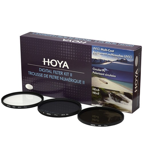 Hoya Digital Filter Kit Mark II (UV (C) HMC + CPL (PHL) + ND8 + (CASE + FILTER GUIDEBOOK) 49mm