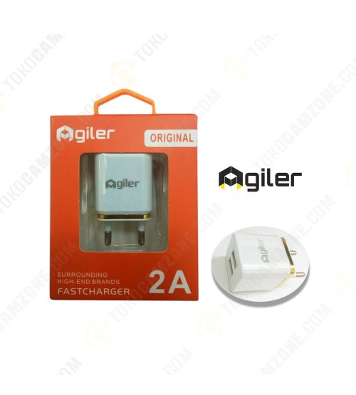 Agiler 2 Ports Adapter Wall USB 2A  - 5V Output Fast Charger