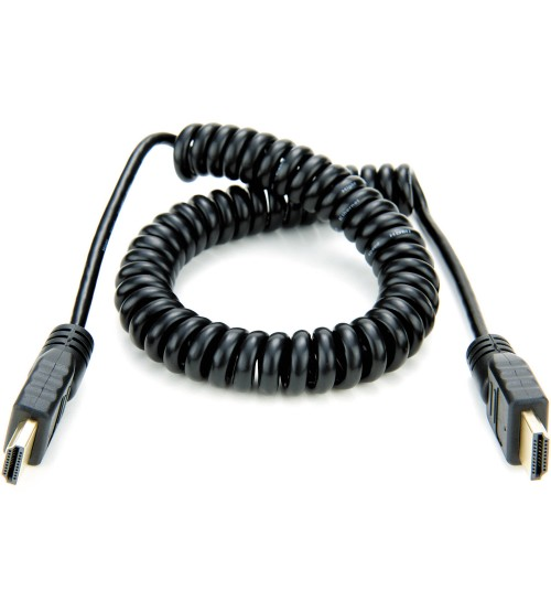 Atomos Full HDMI to Full HDMI Coiled Cable 50cm-65cm (ATOMCAB011)