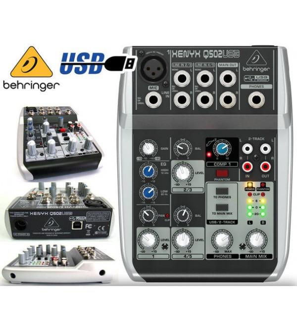 Behringer Xenyx Q502 USB 4 Channel Mixer