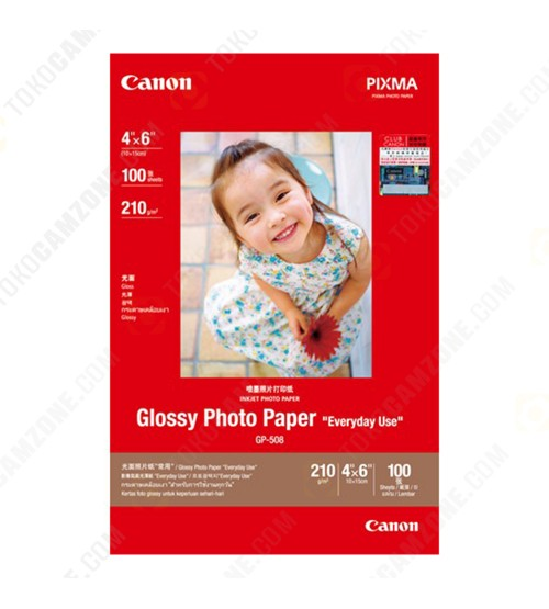 Canon Glossy Photo GP-508/4R 4x6 (100 Sheets)