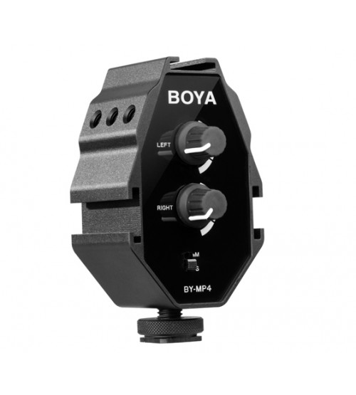 Boya BY-MP4 2-Channel Audio Adapter