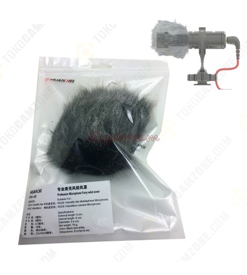 Huanor HN-49 Outdoor Dusty MIC Furry Cover Windscreen Windshield Muff for RODE VIDEOMIC Microphone