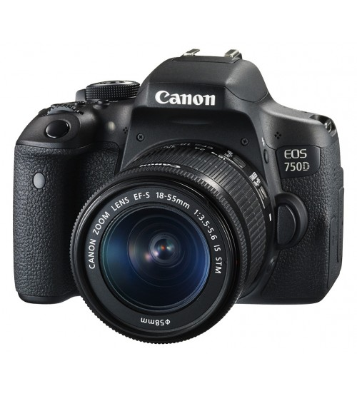 Canon EOS 750D Kit EF-S 18-55mm f/3.5-5.6 IS STM WiFi (Promo Cashback Rp 500.000)