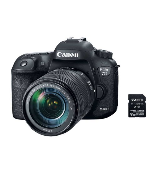 Canon EOS 7D Mark II Kit 18-135mm NANO USM with WIFI Adapter W-E1