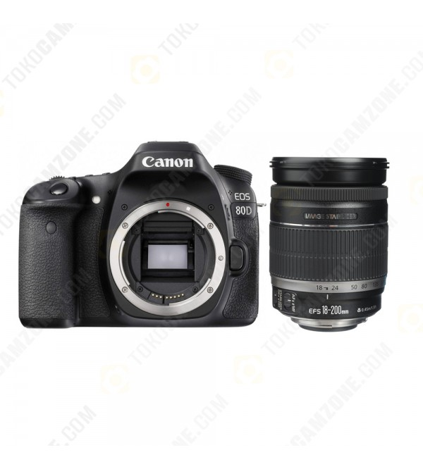 Canon Eos 80d Kit 18 200mm Is Wifi Promo Cashback Rp 500 000 Free Cs100