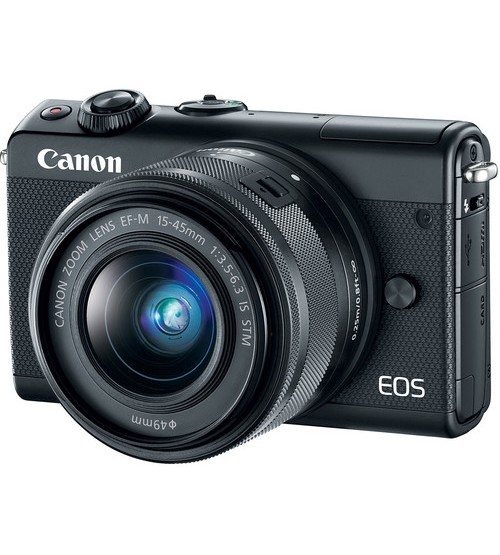 Canon EOS M100 Kit 15-45mm f/3.5-6.3 IS STM (Promo Cashback Rp 300.000 + Free SDHC 16GB)