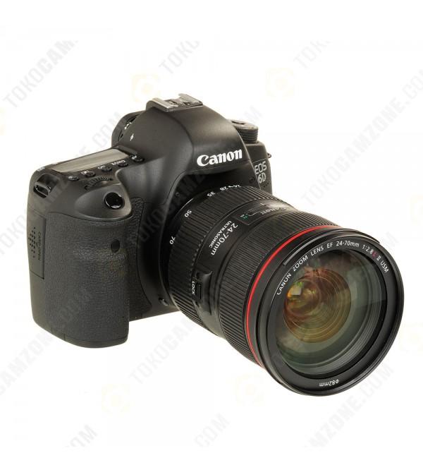 Canon EOS 6D Mark II Kit 24-70mm F/4L IS USM (Promo Cashback Rp 1 500 000)