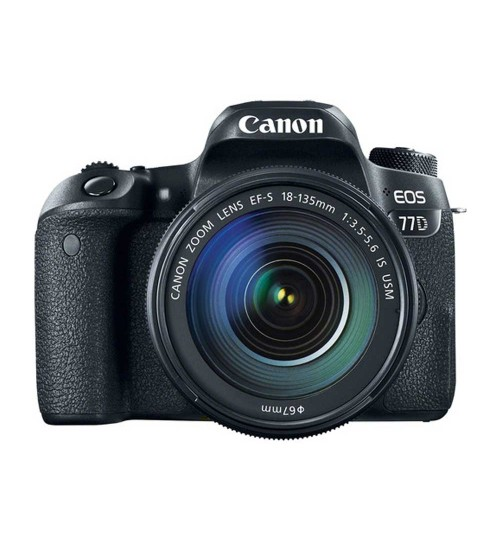 Canon EOS 77D Kit EF-S 18-135mm f/3.5-5.6 IS (Promo Cashback Rp 800.000 + Power Adapter PZ-E1 Periode s/d 31 Mei 2020)