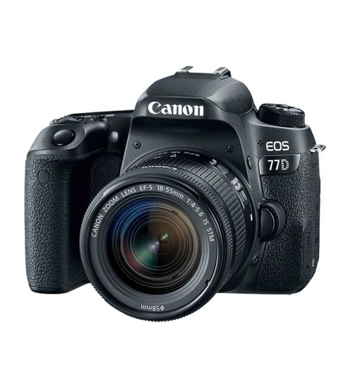 Canon EOS 77D Kit EF-S 18-55mm f/4-5.6 IS STM (Promo Cashback Rp 800.000 Periode 04 s/d 29 Februari 2020)