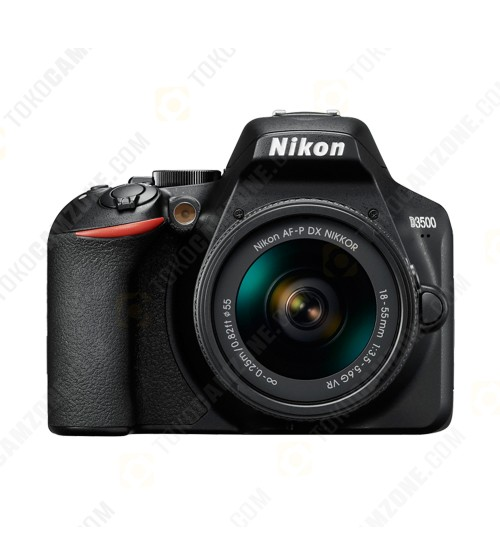 Nikon D3500 Kit 18-55mm VR (Promo Free Lensa AF-P DX 70-300mm + SDHC 16GB + Nikon Bag Size M)