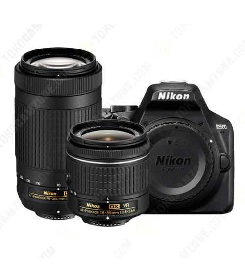 Nikon D3500 Double Kit Lens 18-55mm + 70-300mm