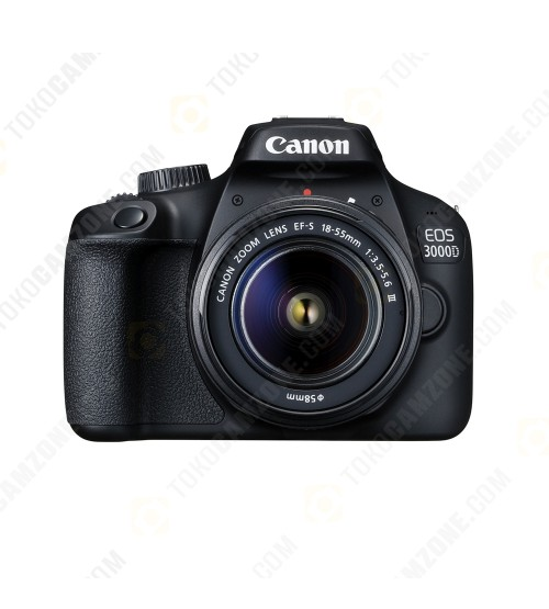 Canon EOS 3000D Kit EF-S 18-55mm III (Promo Cashback Rp 500.000 Periode s/d 28 Februari 2021)