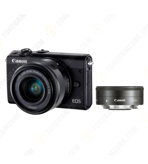Canon EOS M100 Kit 15-45mm f/3.5-6.3 IS STM + 22mm f/2.0 STM