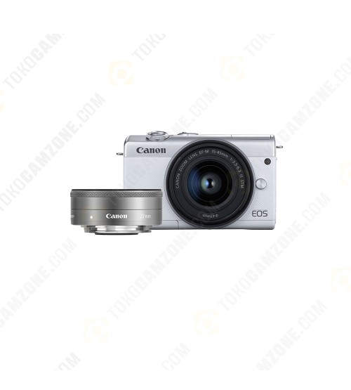 Canon EOS M200 kit 15-45mm F/3.5-6.3 IS STM + Canon EF-M 22mm f/2 STM (Promo Cashback Rp 200.000)