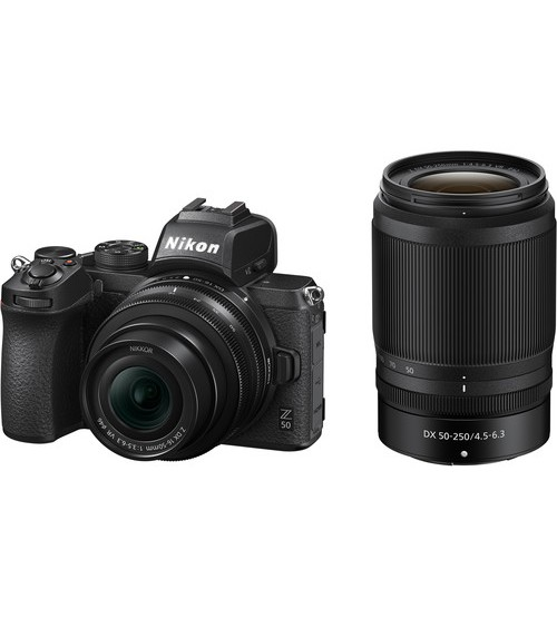 Nikon Z50 Mirrorless Kit 16-50mm + 50-250mm Cashback Rp 1.000.000 + SD Card 16 Gb + Nikon Bag Size M + USB Camera + 10 In 1 Gift)