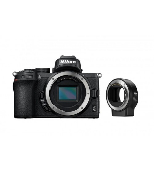 Nikon Z50 Body Only + Mount Adapter FTZ (Cashback Rp 1.000.000 + SD Card 16 Gb + Nikon Bag Size M + USB Camera + 10 In 1 Gift)