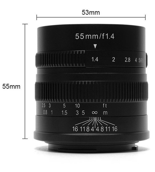 7Artisans For Sony E-mount 55mm F/1.4