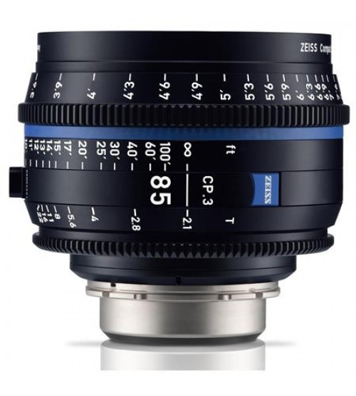 Carl Zeiss CP.3 85mm T2.1 Compact Prime Lens (Canon EF Mount, Meters)