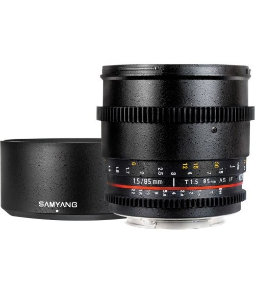 Samyang For Canon 85mm T1.5 VDSLR II
