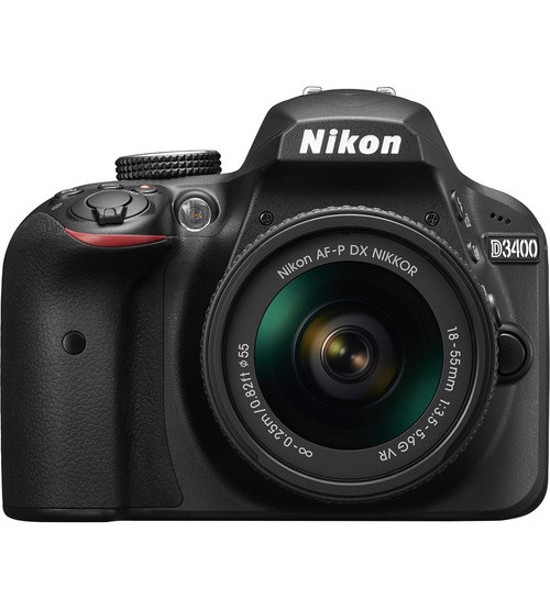 Nikon D3400 Kit 18-55mm (Free SDHC 16 GB + DSLR Bag)