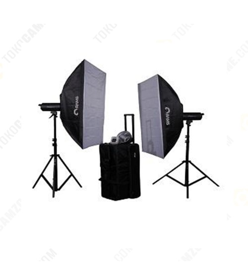 Paket Studio Rams P-60 with Softbox and Stand