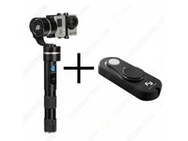 Feiyu G4 3-Axis Handheld Steady Gimbal for Action Cameras with Feiyu G4-RMT USB Remote Control for FY-G4 Gimbal