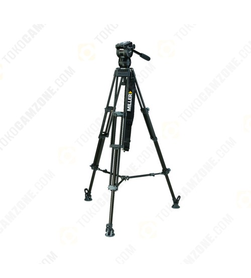 Miller CX6 Fluid Head with Toggle 75 2-Stage Alloy Tripod System (Ground-Level Spreader)
