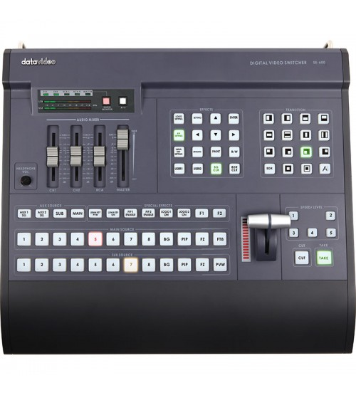 Datavideo SE-600A SD 8 - Channel Digital Video Switcher (w/ 2-CH SDI Outputs & 2-CH DV Outputs )