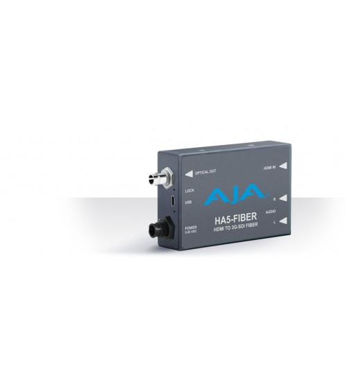AJA HA5 with ST Fiber Output, HDMI to 3G-SDI protocol on Fiber HA5-Fiber
