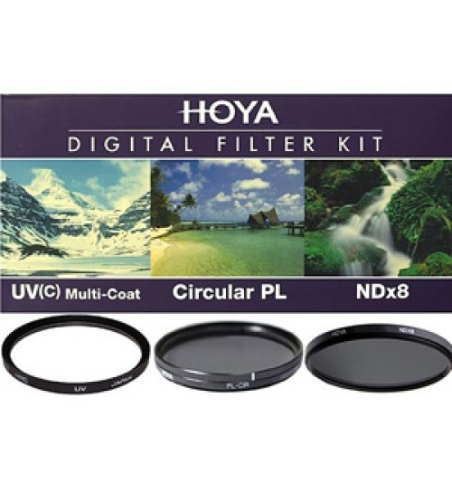 Hoya Digital Filter Kit (UV (C) HMC + CPL (PHL) + ND8 + (CASE + FILTER GUIDEBOOK) 62mm