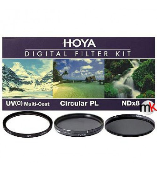 Hoya Digital Filter Kit (UV (C) HMC + CPL (PHL) + ND8 + (CASE + FILTER GUIDEBOOK) 37mm)